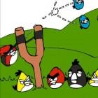 Играть Злые птички Раскраска онлайн